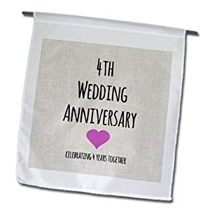 fl_154431_1 4th Wedding Anniversary Gift Linen Celebrating 4 Years ...