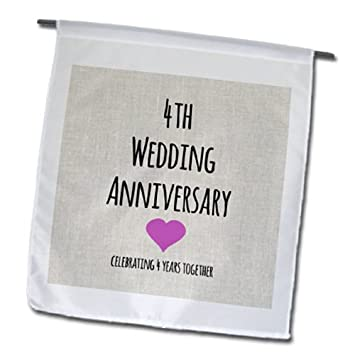 4th wedding anniversary gift linen celebrating 4 years together fourth ...