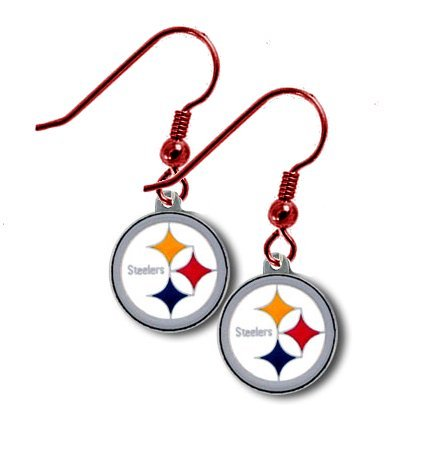 Pittsburgh Steelers RED Dangle Earrings NFL (New For 2013)