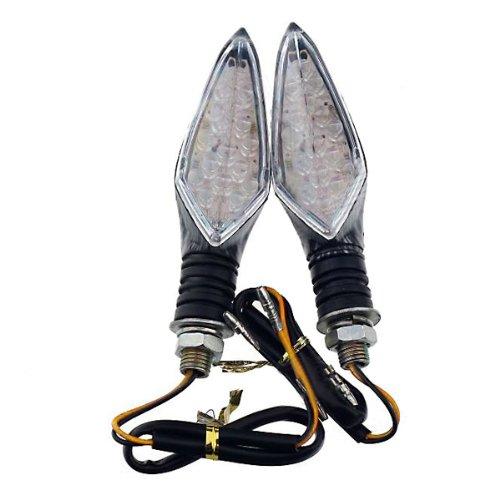 Diy Motorcycle Decoration Yellow Light Led Rhombic Turn Signal Lamp Bulb - Grey + Black (2 Pcs)
