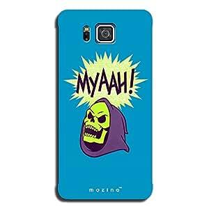 Mozine Skeleton Myaah printed mobile back cover for Samsung alpha