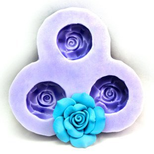 DGI MART Party Supplies Food Decorations DIY Silicone Mold Tray Silicone Decorative Cake Toppers Molds 4.2cm Small Flower Silicone Fondant Sugar Pudding Mini Mold Craft Mold DIY Cake Cookie Decorating Mold Tray