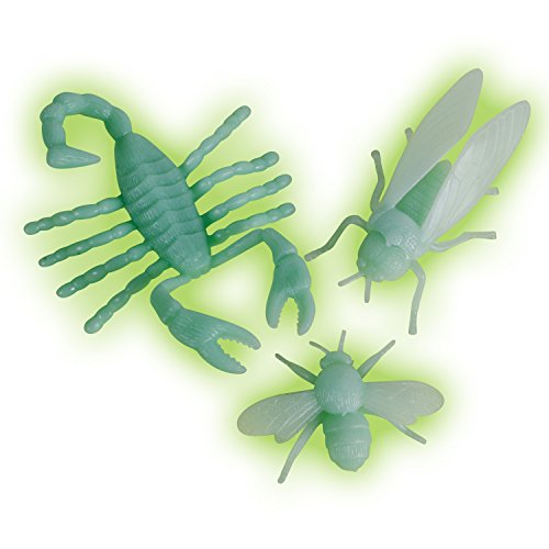 Loftus Glow In The Dark Insects Decoration Prop, Green, 3 Pack (Haunted House Prop Ideas)