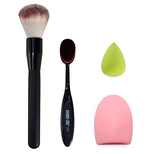 Makeup Brush, Oval Cosmetic Cream Powder Blush