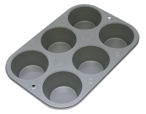 OvenStuff Non-Stick 6-Cup Jumbo Muffin Pan (Nonstick Large Muffin Pans compare prices)