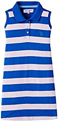 US Polo Association Girls Casual Dress (UGDR5152_Me. Blue_4 - 5 years)