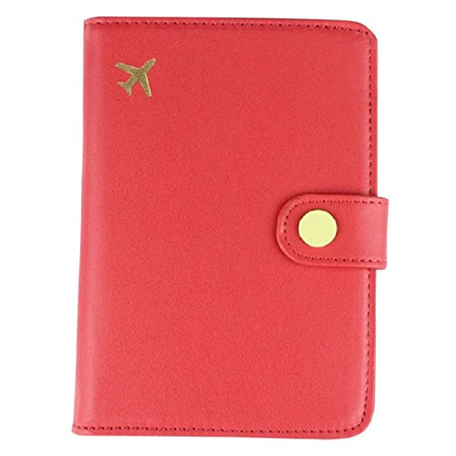 Travel RFID Blocking Faux Leather Passport Holder Wallet Cover Case Wing Pocket