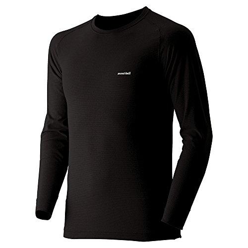 (モンベル)mont-bell ジオラインEXP.ラウンドネックシャツ Men's 1107518 BK ブラック L
