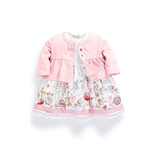 Ferenyi's Baby Girl's Clothes Long-sleeved Jacket With Floral Dress Sets (4-10 months )