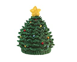 San Diego Hat Company Chenille Christmas Tree Hat Green, 6-12 Months