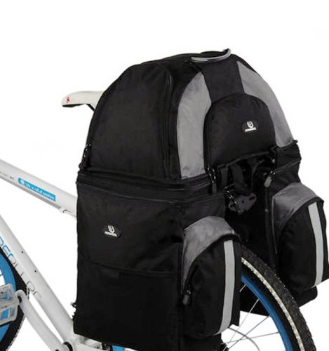 Arctic Biker Outdoor Sport 60L Bicycle Bag, Bike Rear Seat Separable Pannier, With Rain Cover, 60L