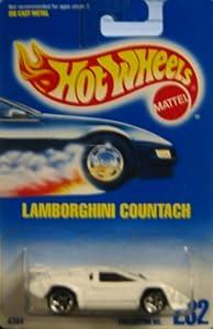 mattel hot wheels lamborghini countach 232 blue card 1991 toys games. Black Bedroom Furniture Sets. Home Design Ideas