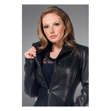 Whet Blu Women's Shape Accentuating Scuba Jacket (Black, Medium)