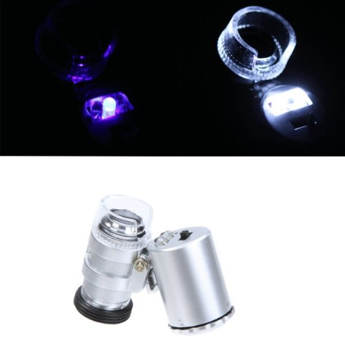 Limited Stock!!! Hot Deal!! Mini 60X Microscope Magnifier For Iphone 5 Uv Currency Detector With Led Light