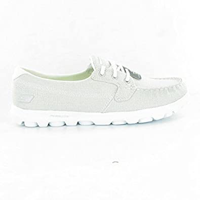 Skechers - 13563 Go Walk Trainers, Silver, 4 UK Adult