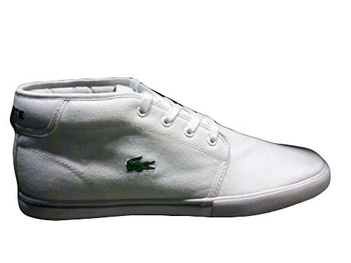 Lacoste Men's Ampthill Lcr2 Spm Fashion Sneaker Fashion Sneaker, White/white, 11 M US