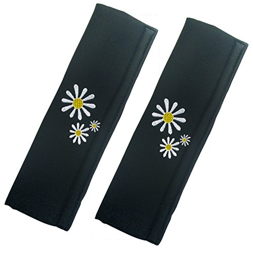 xtremeautor-black-white-daisy-car-seat-belt-comfort-pads-cover-cushion-for-all-cars
