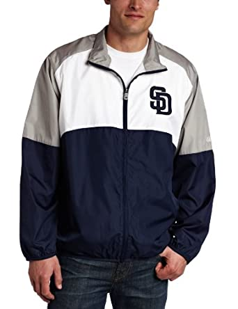 MLB San Diego Padres Sports Night Lightweight Full Zip Jacket by Majestic
