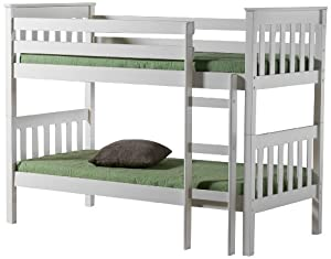 Birlea Seattle 3 ft Bunk Bed, Ivory
