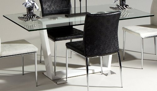 Cheap Megan Dining Table with Glass Top (MEGAN-DT)