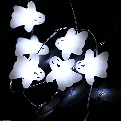 Halloween Lights Battery Operated Ghost String Lights 3 Meters 40 LED Cool White (How To Make An Assassins Creed Costume)