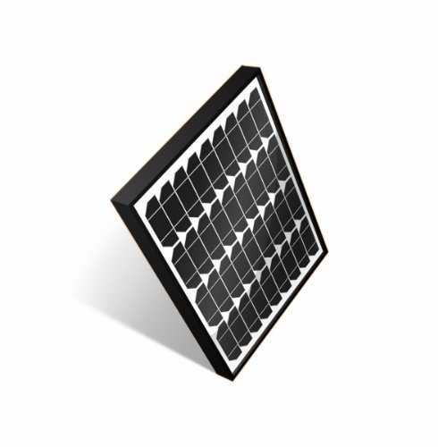 Gsm Cyc-Sol30W 30 Watt 12 Volt Monocrystalline Solar Panel Battery Charger, Black