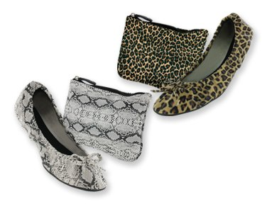 Image of Animal Print Foldable Slippers (B0054GYKHE)
