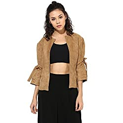 Cashewnut Women Basic Solid Jackets -XL