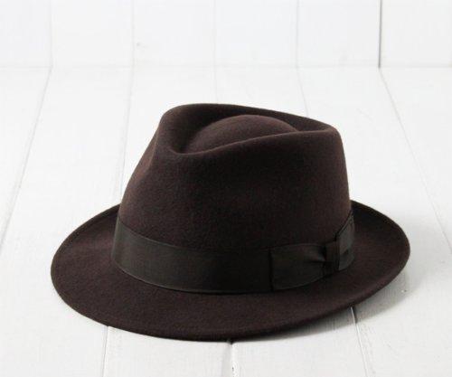 Amazon.co.jp: (フジハット) FUJI HAT ウールフェルト中折れハット CM325-375 フジコー フエルト 羊毛 中折れ帽 ハット 小さいサイズ 大きいサイズ FUJIHAT フジコー メンズ 男性 紳士 帽子: 服&ファッション小物通販