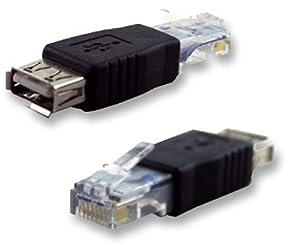imb usb femelle a rj45 m le adaptateur de convertisseur de connecteur ethernet. Black Bedroom Furniture Sets. Home Design Ideas