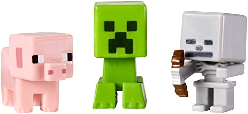 Minecraft マインクラフト豚、クリーパー&スケルトン 3パックシリーズ1フィギュア 並行輸入品