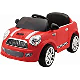 BHUVID Kids Battery Operated Ride On MINI COOPER Car With R/c & Led Lights