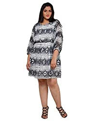 Oxolloxo Plus size printed dress