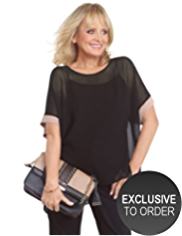Twiggy for M&S Collection Oblong Hem Top with Camisole