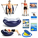 The Bean Deluxe and Flex 10 - The Ultimate Exerciser the Bean Deluxe Is an All-in-one Workout Tool That Offers the Benefits of a Stability Ball, Incline Bench and Back Pain Rehab Device All Rolled Into One Product