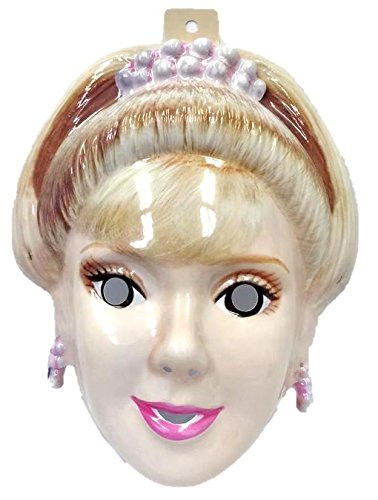 [Rubie's Barbie Doll PVC Plastic Half Mask Princess Blonde Costume Accessory New] (Half Doll Half Zombie Costume)