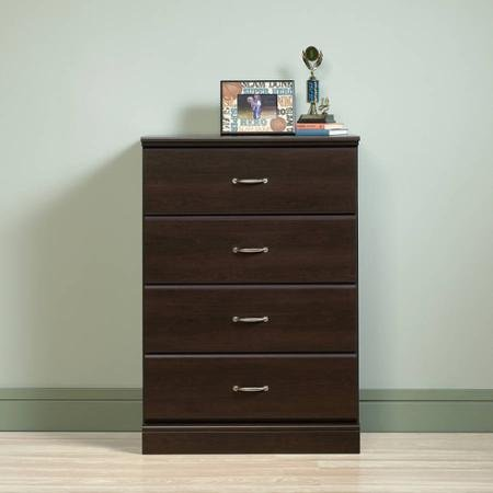 Sauder Parklane 4-Drawer Chest, With Metal Runners And Safety Stops, Espresso Finish (Chest Espresso Finish compare prices)
