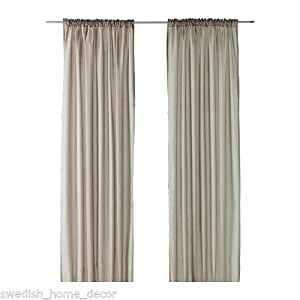 amazon com new ikea vivan curtains 57 quot x 98 quot window