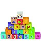 Boikido Jouet en Bois - 7007-A - Jouet d'éveil - Cubes Alphabet - 28 Pièces
