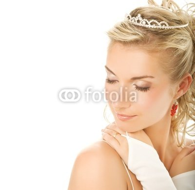 "Wallmonkeys Peel and Stick Wall Decals - Beautiful Young Bride Close-up Portrait - 18""W x 18""H Removable Graphic"