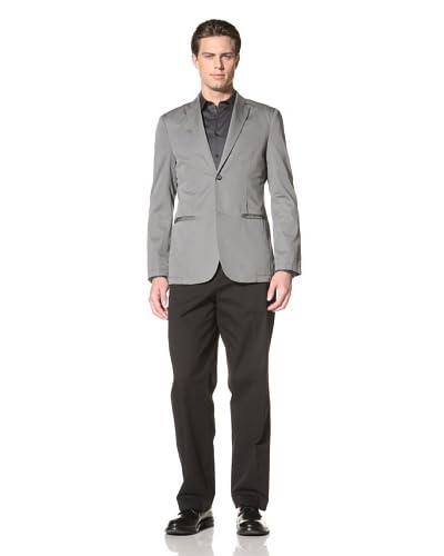 Perry Ellis Men's Micro Twill Blazer  [Castlerock]