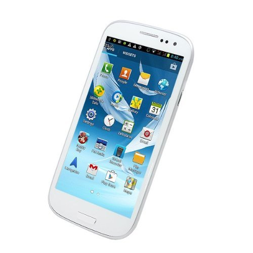Generic Unlocked Quadband Dual Sim Android 4.1 OS With 4.7 Inch Capacitive Touch Screen 3G Smart Phone - AT&T, T-mobile, H20, Simple mobile and other GSM networks (White) (White)