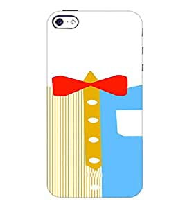 PrintDhaba Ribbon Design D-4839 Back Case Cover for APPLE IPHONE 5S (Multi-Coloured)