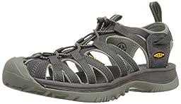 KEEN Women\'s Whisper Sandal,Magnet/Neutral Gray,9 M US