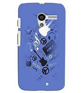 PrintVisa Music Guitar Quotes 3D Hard Polycarbonate Designer Back Case Cover for Motorola Moto X