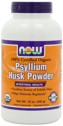 Now Foods Organic Psyllium Husk Whole  Ounce
