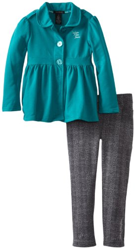 Calvin Klein Girls 2-6X Jacket  Pants 4-6X, Green,