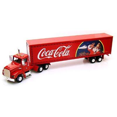 Coke Christmas Semi Tractor Trailer Die Cast Collectible Toy Truck