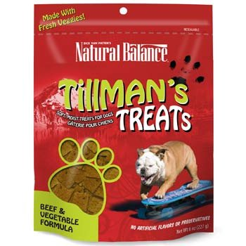 Natural Balance Training Tips Beef Vegetable Dog Treats (Pack of 6-Ounce Bag)