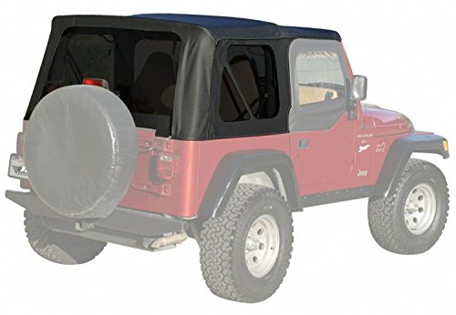 Rampage 99335 Soft Top, OEM Replacement Full Steel Doors  1997-2006 Jeep Wrangler, Black Diamond w/ Tint Windows